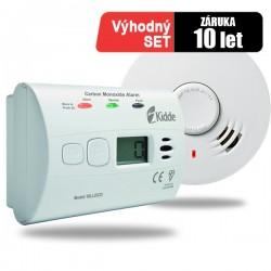 Detektor CO Kidde 10LLDCO a hlásič požáru 10Y29