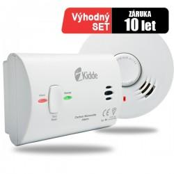 Detektor CO Kidde 7CO a hlásič požáru Kidde 10Y29