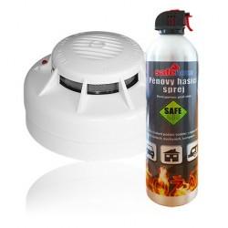 Hlásič požáru SAFE ASD-10 s hasicím sprejem