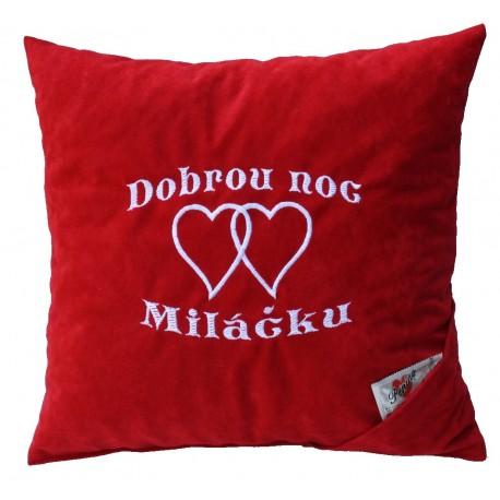 Polštářek Dobrou noc miláčku 2