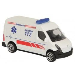 Autíčko ambulance kovové