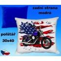 Polštářek motocykl 77