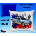 Polštářek auto POLICIE Škoda Octavia