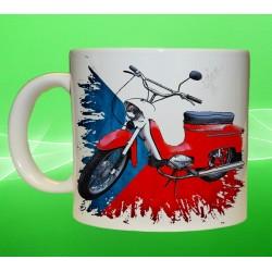 Foto hrneček motocykl Jawa 21