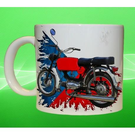 Foto hrneček motocykl Jawa 50 Mustang