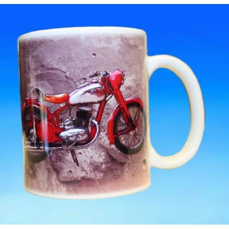Foto hrneček motocykl Jawa 250 Pérák