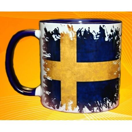 Foto hrneček vlajka Švédsko