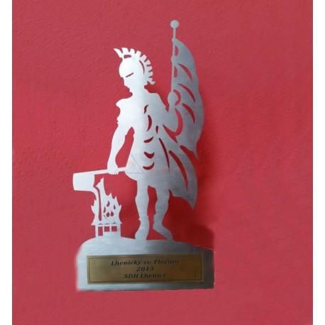 Figurka Svatý Florián - kovový