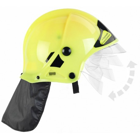 Dětská hasičská přilba žlutá