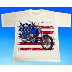 Tričko motocykl Harley 3
