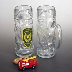Sklenice hasiči s uchem - znak HZS