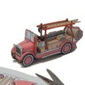 Papírová vystřihovánka hasičské auto